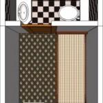 Diseño de habitación con baño en suite