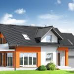Casa clásica de tejas negras