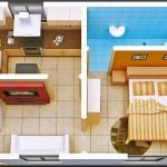Plano de casa de 30 metros cuadrados