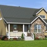 Plano de casa de piedra y madera