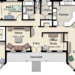 Plano arquitectonico de casa campestre