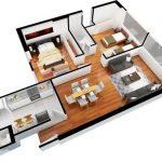 Departamento de 2 dormitorios y 70 metros cuadrados