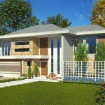Planos de casas modernas de dos plantas con fachada