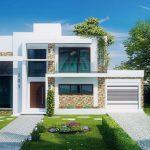 Plano de casa moderna de 125 metros cuadrados