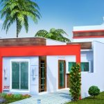 Planos y frentes de casas pequeñas