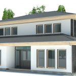 Planos de casas de dos plantas con un dormitorio abajo