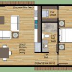 Plano de casa pequeña de un dormitorio