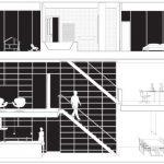 Plano de departamento en tres pisos
