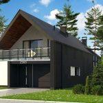 Plano de casa moderna de 8×16 metros