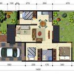 5 Planos de casas chicas con medidas en metros