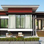 Plano de casa moderna de 2 habitaciones