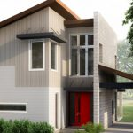 Planos de casas de dos pisos con techos inclinados