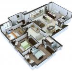 Planos de departamentos en L – 6 Hermosos diseños