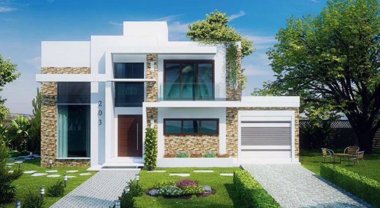 3 dormitorios planos de casas modernas for Planos de apartamentos modernos