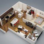 10 Modelos de apartamentos de 1 dormitorio